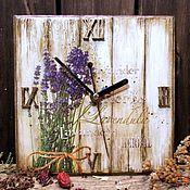 """Для дома и интерьера ручной работы. Ярмарка Мастеров - ручная работа Часы """"Пряные травы. Lavender"""". Handmade."""