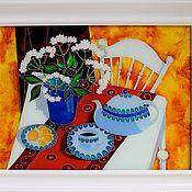 Картины и панно ручной работы. Ярмарка Мастеров - ручная работа Утренний чай. Handmade.