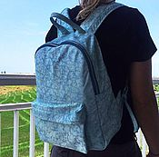 Сумки и аксессуары handmade. Livemaster - original item Urban Backpack from genuine distressed leather and Turquoise stains. Handmade.