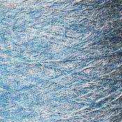 Материалы для творчества ручной работы. Ярмарка Мастеров - ручная работа Мех Небесно-голубой, Италия, 25 гр. Handmade.