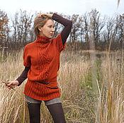 """Одежда ручной работы. Ярмарка Мастеров - ручная работа Жилет """"Осенний"""" оверсайз. Handmade."""