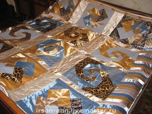 """Текстиль, ковры ручной работы. Ярмарка Мастеров - ручная работа. Купить Покрывало  """"Радуга"""". Handmade. Пэчворк, лоскутное шитье, сатин"""