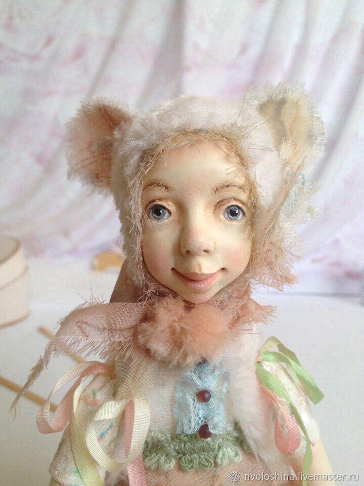 Интерьерная кукла Девочка-Белый мышонок, Куклы и пупсы, Симферополь,  Фото №1
