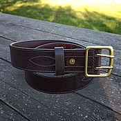 Аксессуары handmade. Livemaster - original item Strap leather, mod. Military Vintage 44MS dark. Handmade.