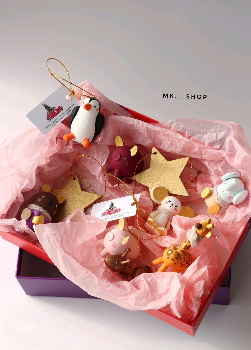 Подарочный набор ёлочных игрушек, рождественский набор, набор из дерев, Игрушки, Архангельск,  Фото №1