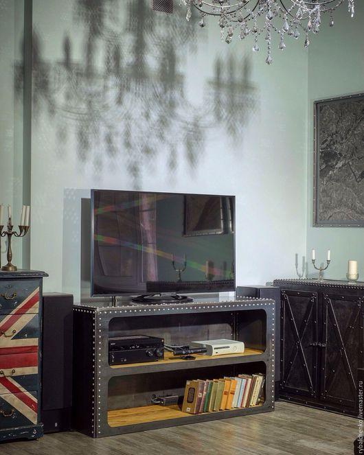 Мебель ручной работы. Ярмарка Мастеров - ручная работа. Купить ТВ тумба, открытый комод. Handmade. Индустриальный стиль, лиственница