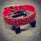 Для домашних животных, handmade. Livemaster - original item Collar for dog genuine leather. Handmade.