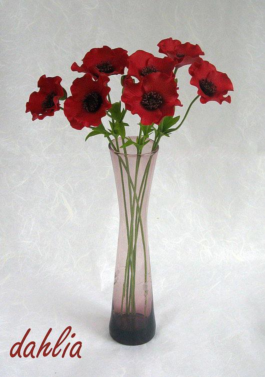 Цветы ручной работы. Ярмарка Мастеров - ручная работа. Купить Маки. Handmade. Красные маки, полевые цветы