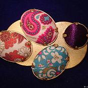 Броши винтажные ручной работы. Ярмарка Мастеров - ручная работа Брошь KENZO с шелковыми вставками. Handmade.