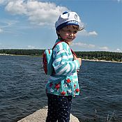 Работы для детей, handmade. Livemaster - original item jumper knitted sailor pullover for girls kids. Handmade.
