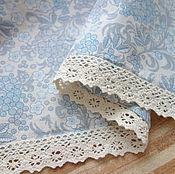Для дома и интерьера ручной работы. Ярмарка Мастеров - ручная работа Скатерть льняная с кружевом. Handmade.