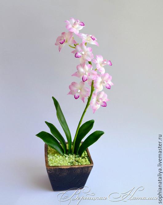 Цветы ручной работы. Ярмарка Мастеров - ручная работа. Купить Орхидея из холодного фарфора. Handmade. Орхидея, цветы из полимерной глины