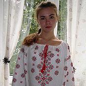 Русский стиль handmade. Livemaster - original item Embroidered shirt