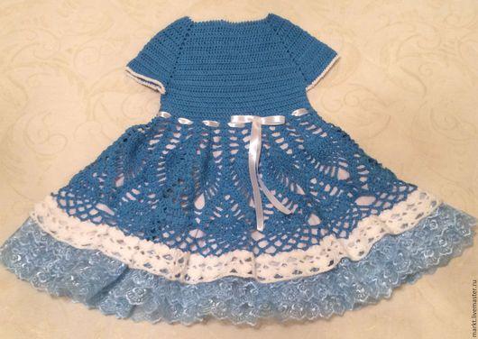 Одежда для девочек, ручной работы. Ярмарка Мастеров - ручная работа. Купить Платье для принцессы. Handmade. Синий, Платье нарядное