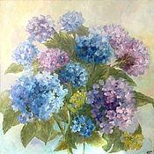 Картины и панно ручной работы. Ярмарка Мастеров - ручная работа Гортензии в саду цветут. Handmade.