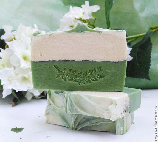 """Мыло ручной работы. Ярмарка Мастеров - ручная работа. Купить Мыло с нуля """"Зеленый чай и белый жасмин"""" с маслом Ши. Handmade."""
