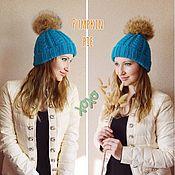 Аксессуары handmade. Livemaster - original item Turquoise hat from Merino and Alpaca,