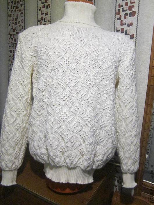 Кофты и свитера ручной работы. Ярмарка Мастеров - ручная работа. Купить Мужской свитер , женский свитер. Handmade. Белый