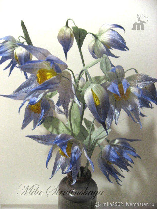Клематис цветы из шелка для букета. Букет клематисов, Свадебные букеты, Санкт-Петербург,  Фото №1