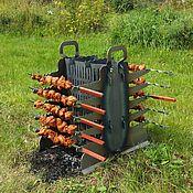 """Для дома и интерьера handmade. Livemaster - original item Two way grill """"Enthusiast"""" black steel 3 mm. Handmade."""