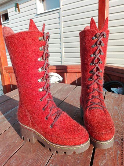 Обувь ручной работы. Ярмарка Мастеров - ручная работа. Купить Ботфорты Великолепный Век. Handmade. Рыжий, уфа, натуральная шерсть