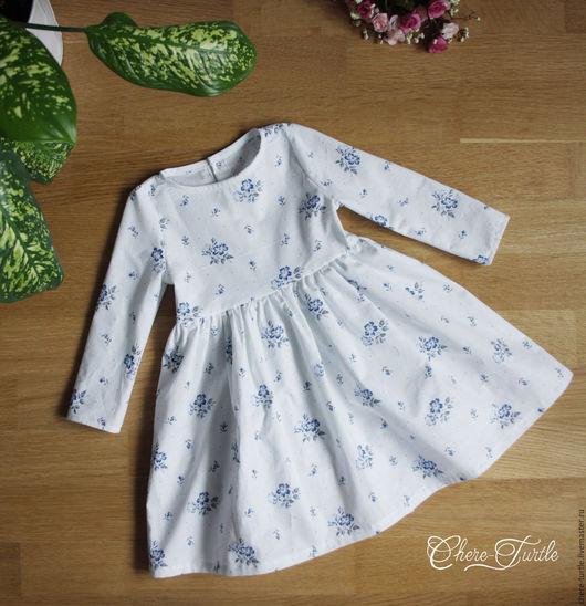 Одежда для девочек, ручной работы. Ярмарка Мастеров - ручная работа. Купить Платье на девочку №7. Handmade. Белый, платье летнее