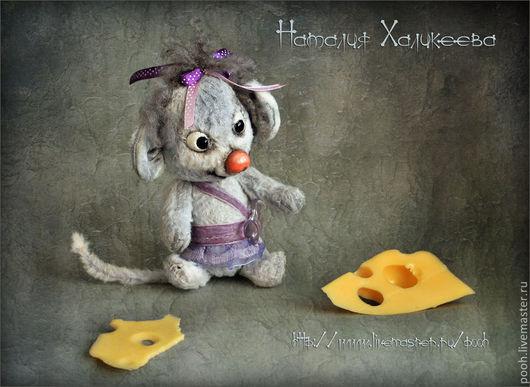 """Мишки Тедди ручной работы. Ярмарка Мастеров - ручная работа. Купить Авторская работа : Мышка """"Варенька"""". Handmade."""