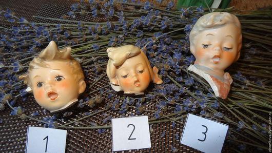 Коллекционные куклы ручной работы. Ярмарка Мастеров - ручная работа. Купить Антикварные головки (средние)-II. Handmade. Бежевый