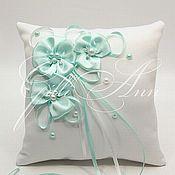 Свадебный салон ручной работы. Ярмарка Мастеров - ручная работа Свадебная подушечка для колец Biatriss. Handmade.
