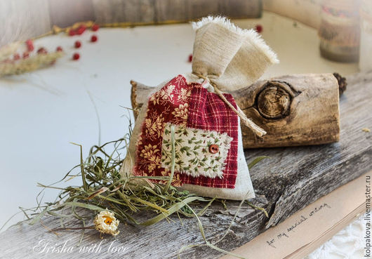 Ароматный мешочек с сеном и мятой.