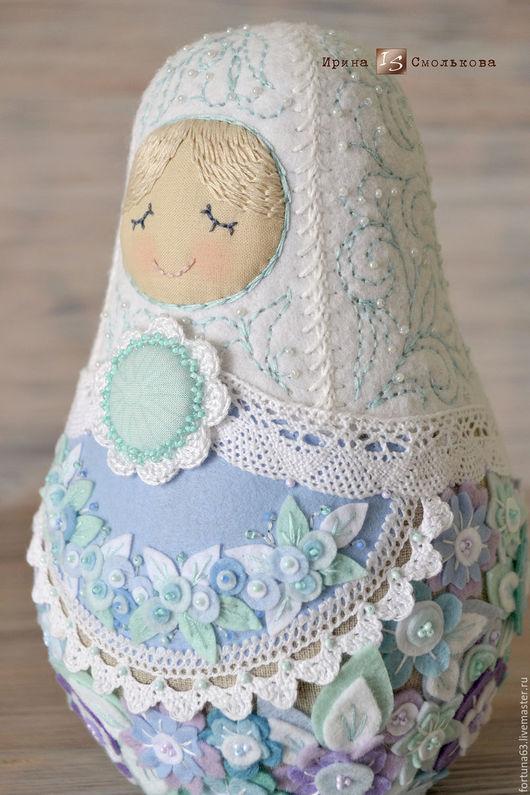 Народные куклы ручной работы. Ярмарка Мастеров - ручная работа. Купить матрешка ЗИМА. Handmade. Бирюзовый, национальная кукла, национальный