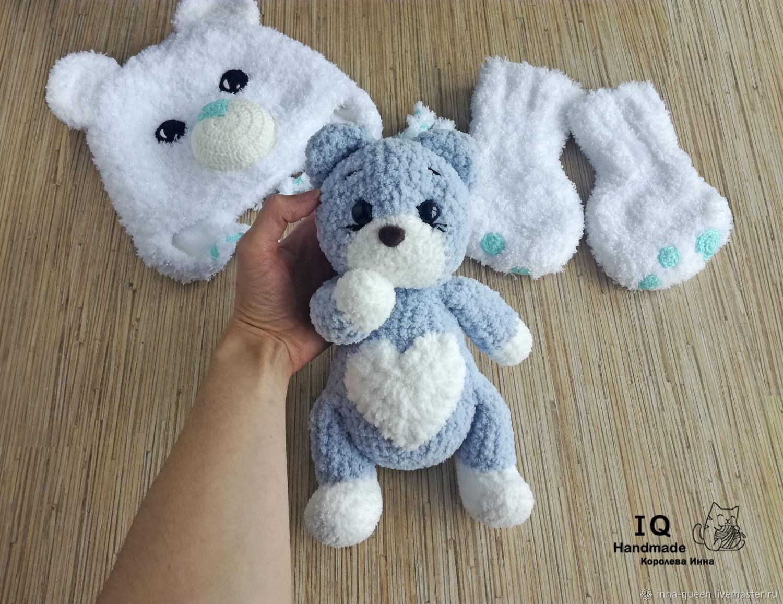 Плюшевая игрушка Сердечный Котик, Мягкие игрушки, Новосибирск,  Фото №1