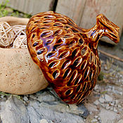 Посуда handmade. Livemaster - original item Handmade sugar bowl jar Acorn. Handmade.