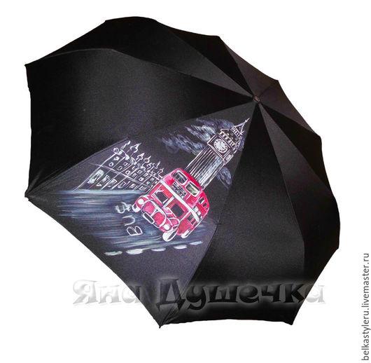 """Зонты ручной работы. Ярмарка Мастеров - ручная работа. Купить Зонт с ручной росписью """"Лондонский Биг-Бэн"""". Handmade. Зонт"""