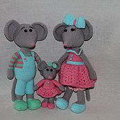 Куклы и игрушки ручной работы. Ярмарка Мастеров - ручная работа семья мышек. Handmade.