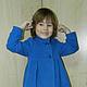 Одежда для девочек, ручной работы. Заказать пальто для девочки. Светлана (GoldenLines). Ярмарка Мастеров. Синий, дети, драп