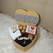 Подарки к праздникам ручной работы. Ярмарка Мастеров - ручная работа Мужская подарочная коробка. Handmade.
