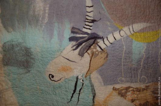 """Животные ручной работы. Ярмарка Мастеров - ручная работа. Купить Настенное пано """"Когда все спокойно"""". Handmade. Интерьерная картина"""