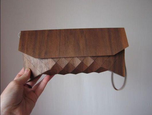 Женские сумки ручной работы. Ярмарка Мастеров - ручная работа. Купить клатч деревянный. Handmade. Коричневый, деревянный клатч, де