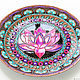 Order 'Lotus Deluxe' decorative plate. Art by Tanya Shest. Livemaster. . Plates Фото №3
