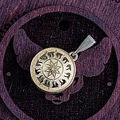 Украшения handmade. Livemaster - original item Double-sided gold pendant