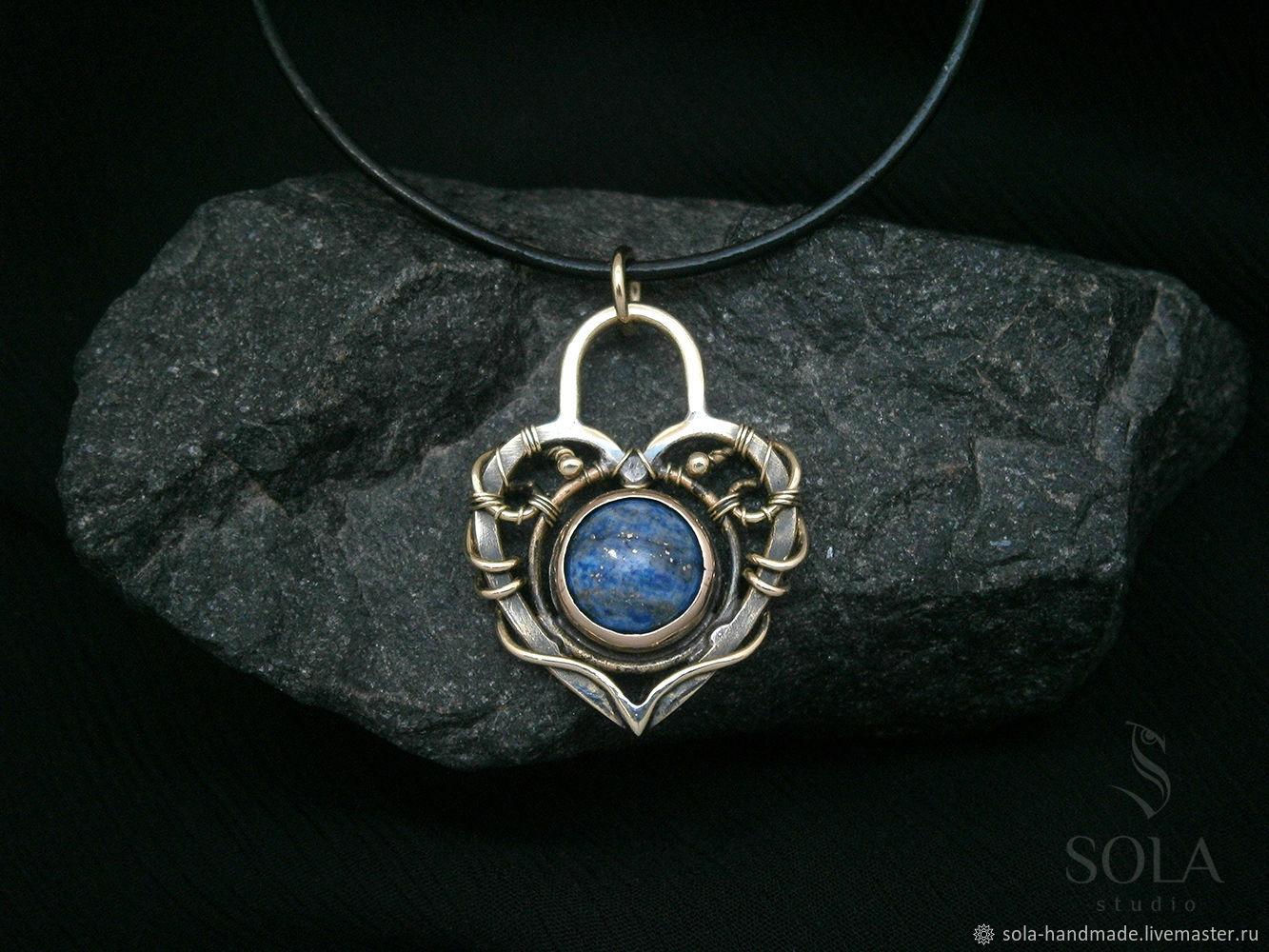 Brass pair of pendants with lapis lazuli lock and key shop online brass pair of pendants with lapis lazuli lock and key aloadofball Gallery