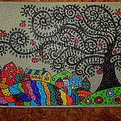 """Канцелярские товары ручной работы. Ярмарка Мастеров - ручная работа Обложка на паспорт """"Счастливые яблочки"""". Handmade."""