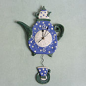 Для дома и интерьера handmade. Livemaster - original item Ceramic clock