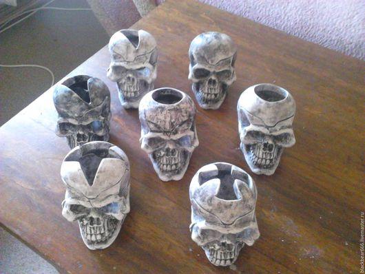 Подсвечники ручной работы. Ярмарка Мастеров - ручная работа. Купить подсвечники черепа. Handmade. Серый, подсвечник, пират, колдовство, колдун