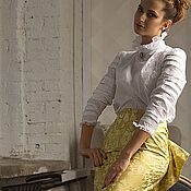 Одежда handmade. Livemaster - original item Skirt with bustle