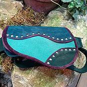 Сумки и аксессуары handmade. Livemaster - original item Leather and suede waist bag. Handmade.
