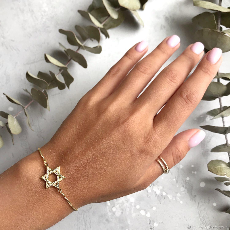 David's Star Bracelet, Bead bracelet, Moscow,  Фото №1
