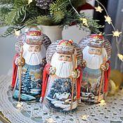 Сувениры и подарки handmade. Livemaster - original item Santa Claus with a staff (landscape Story) 17cm. Handmade.