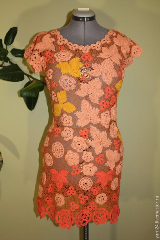 Платья ручной работы. Ярмарка Мастеров - ручная работа. Купить Платье вязанное. Handmade. Рыжий, вязанное платье, платье